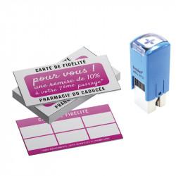 Kit de fidélité avec tampon et carte de visites