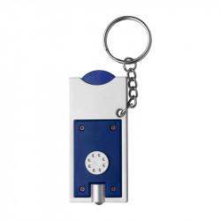 porte-clés torche bleu