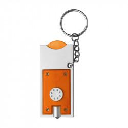 porte-clés torche orange