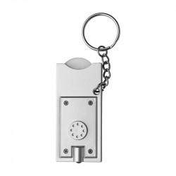 porte-clés torche blanc
