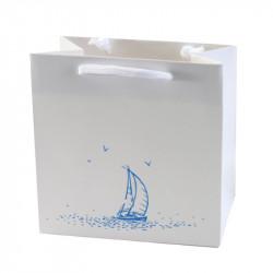Sac pelliculé mat blanc avec cliché Mer