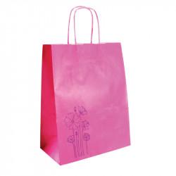 Sac kraft shopping Rose -...