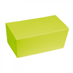 Ballotin vert personnalisable, intérieur argent à bas prix