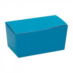 Ballotin turquoise personnalisable intérieur argent à bas prix