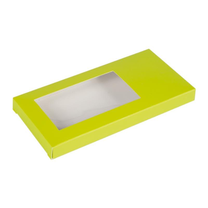 Étuis tablette vert personnalisable avec fenêtre transparente