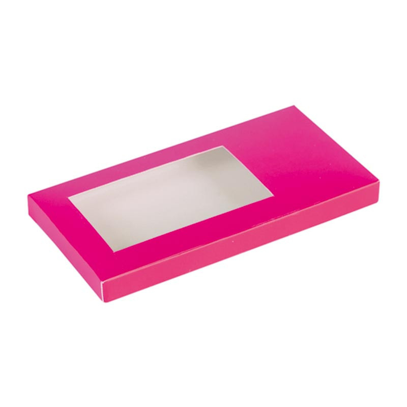 Étuis tablette fuchsia personnalisable avec fenêtre transparente