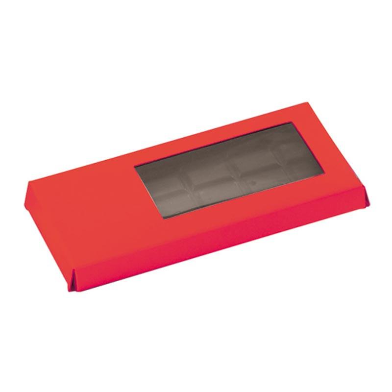 Étuis tablette rouge personnalisable avec fenêtre transparente