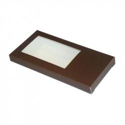 Étuis tablette chocolat personnalisable avec fenêtre transparente