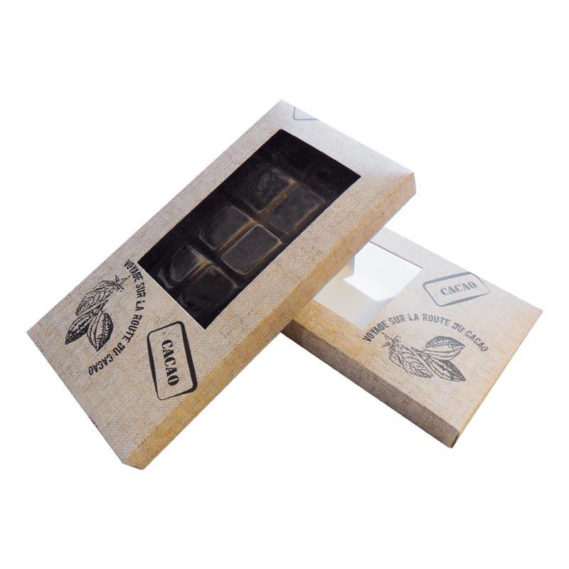 Étuis tablette cacao personnalisable avec fenêtre transparente