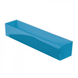 Boîte macaron acidulée turquoise personnalisable avec accessoire