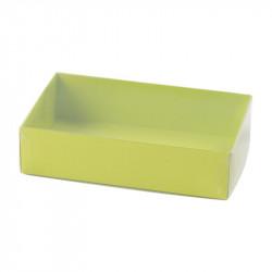 Boîte macaron acidulée verte personnalisable fournie avec accessoire