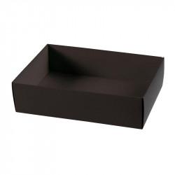 Boîte macaron acidulée noire personnalisable fournie avec accessoire