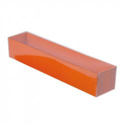Boîte macaron acidulée orange personnalisable fournie avec accessoire