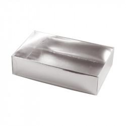 Boîte macaron argent personnalisable fournie avec accessoire