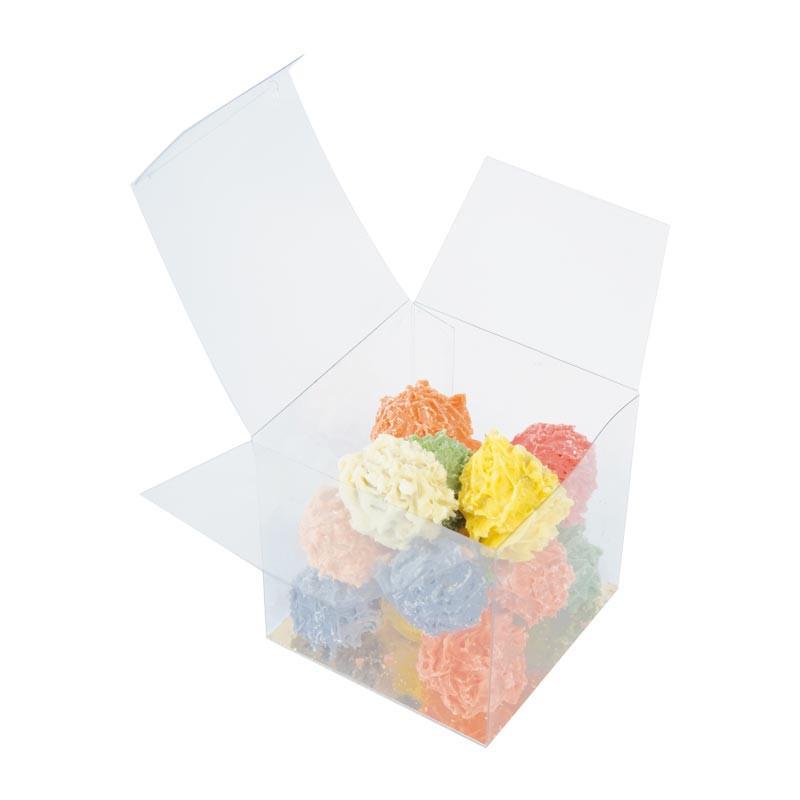 Cube PVC transparent alimentaire personnalisable à bas prix