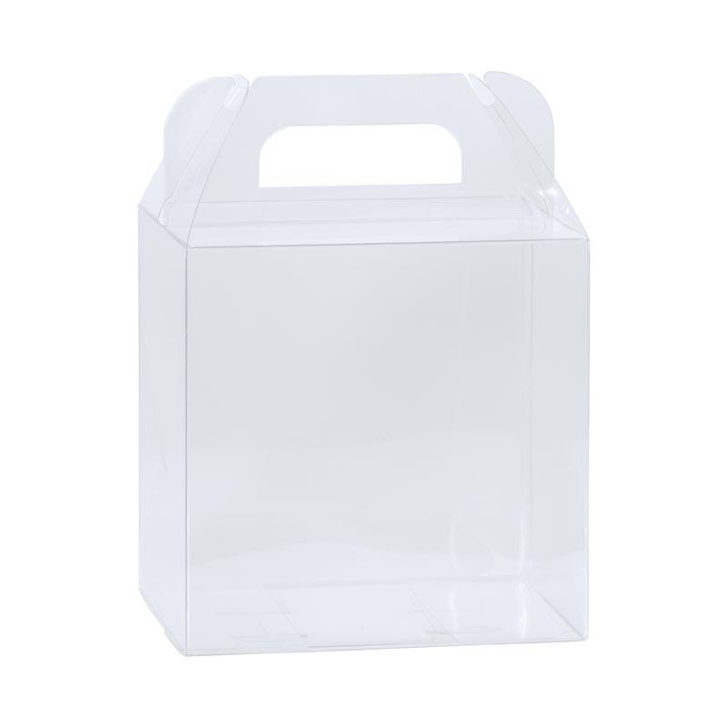 Boîte poule PVC transparent alimentaire avec poignées à tarif réduit