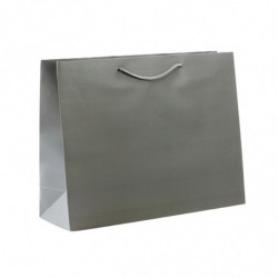Sac pelliculé mat gris 190g