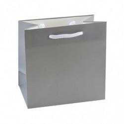 Sac pelliculé mat gris/blanc 190g