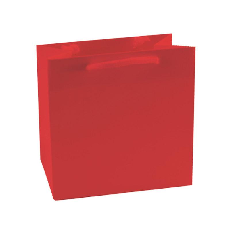 Sac pelliculé mat rouge 190g