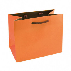 Sac pelliculé mat bicolore orange/marron 190g