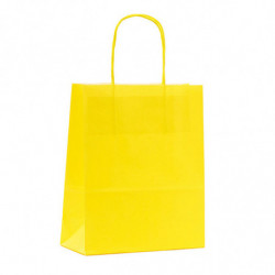 Sac Kraft shopping jaune citron T1