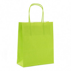 Sac kraft shopping vert acidulé T1