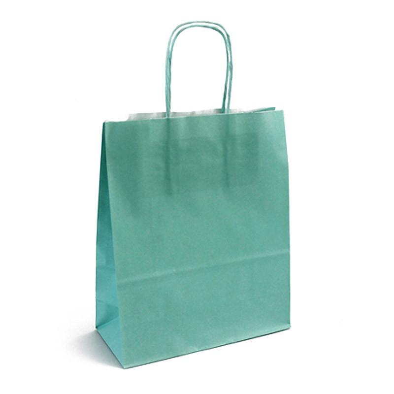 Sac kraft shopping vert d'eau T1