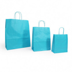 Ensemble sacs  kraft shopping turquoise