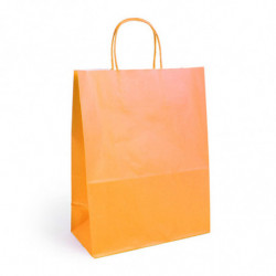 Sac kraft shopping orange  T1