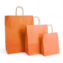 Ensemble sacs kraft shopping orange