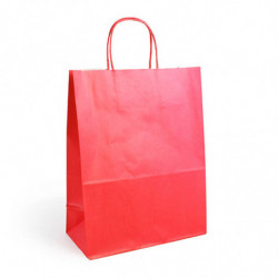 Sac kraft shopping rouge  T1