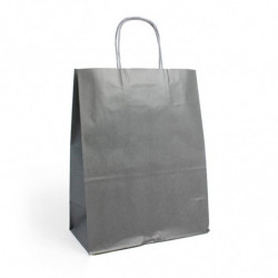 Sac kraft shopping gris  T1