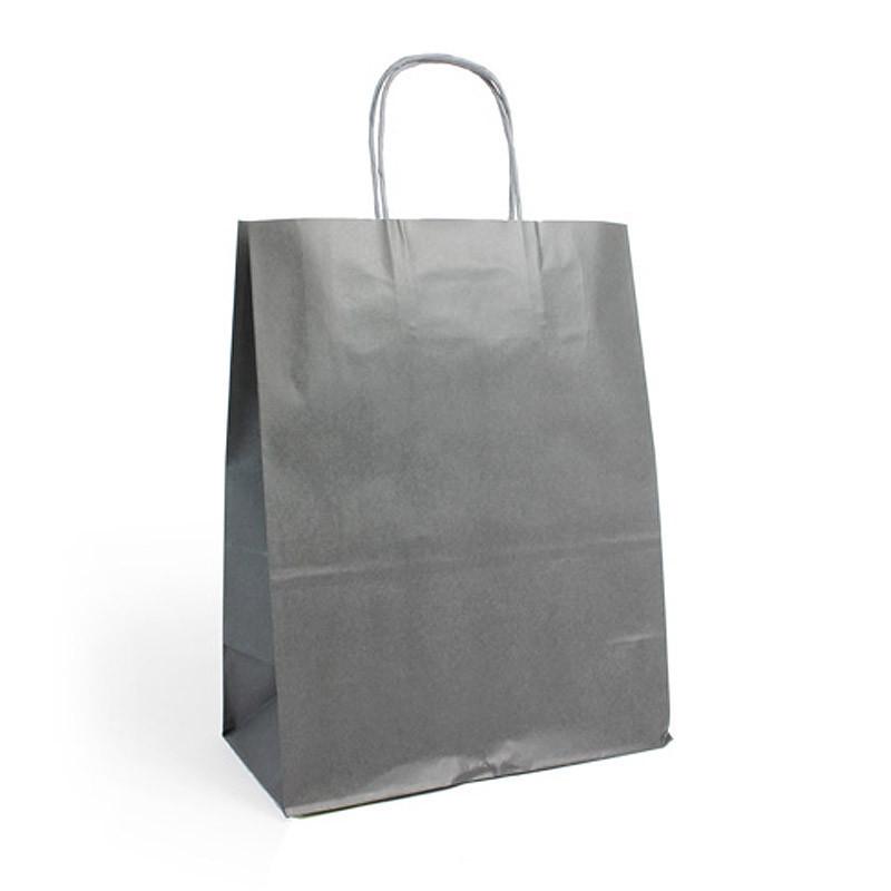 Sac kraft shopping gris  T1
