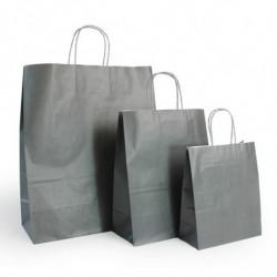 Ensemble sacs kraft shopping gris