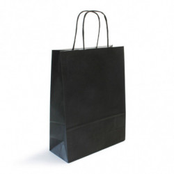 Sac kraft shopping noir  T1