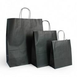 Ensemble sacs kraft shopping noir