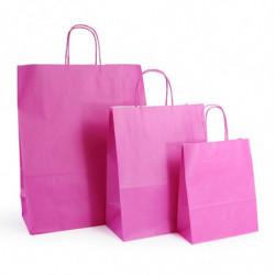 Ensemble sacs kraft shopping rose
