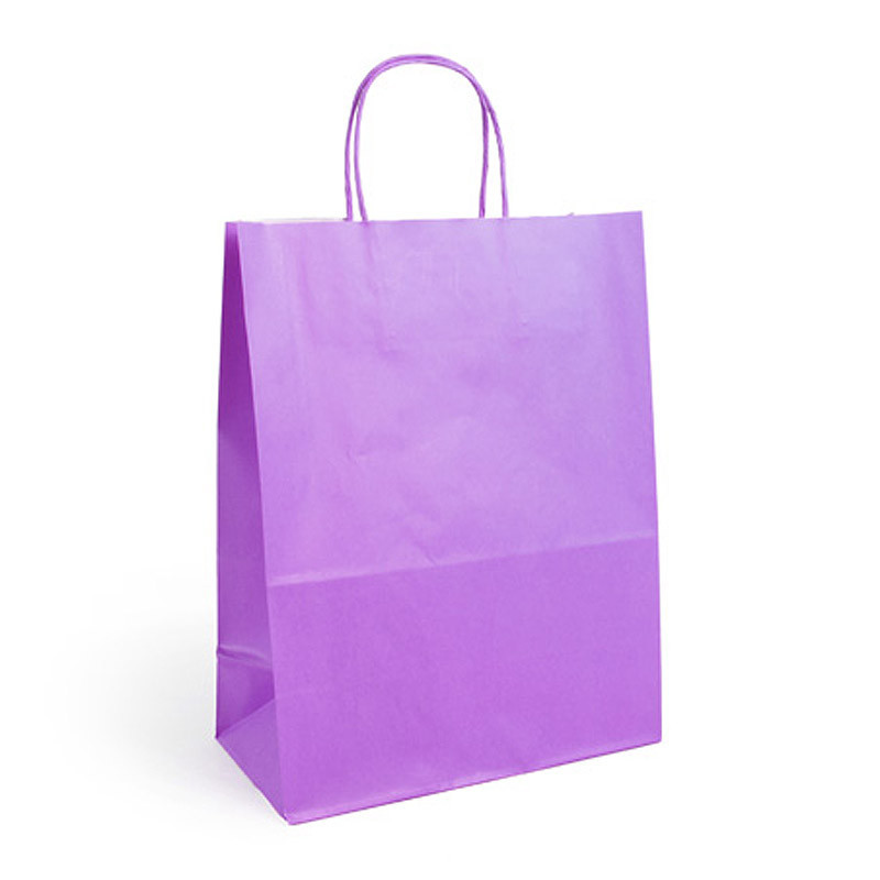 Sac kraft shopping violet  T1