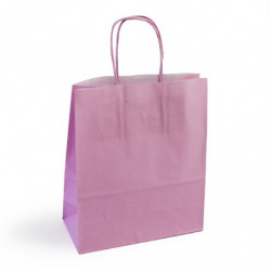 Sac kraft shopping rose clair  T1