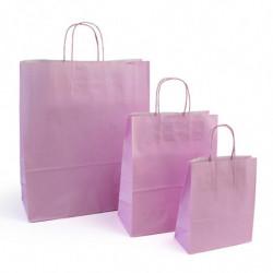 Ensemble sacs kraft shopping rose clair