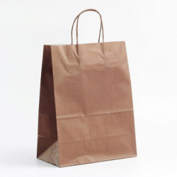 Sac kraft shopping chocolat T1