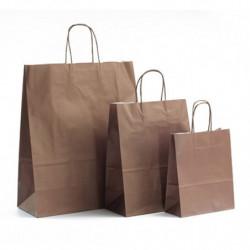 Ensemble sac kraft shopping chocolat