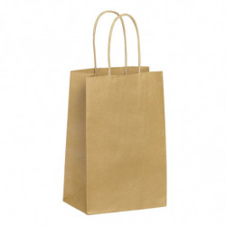 Sac kraft shopping nature brun T0