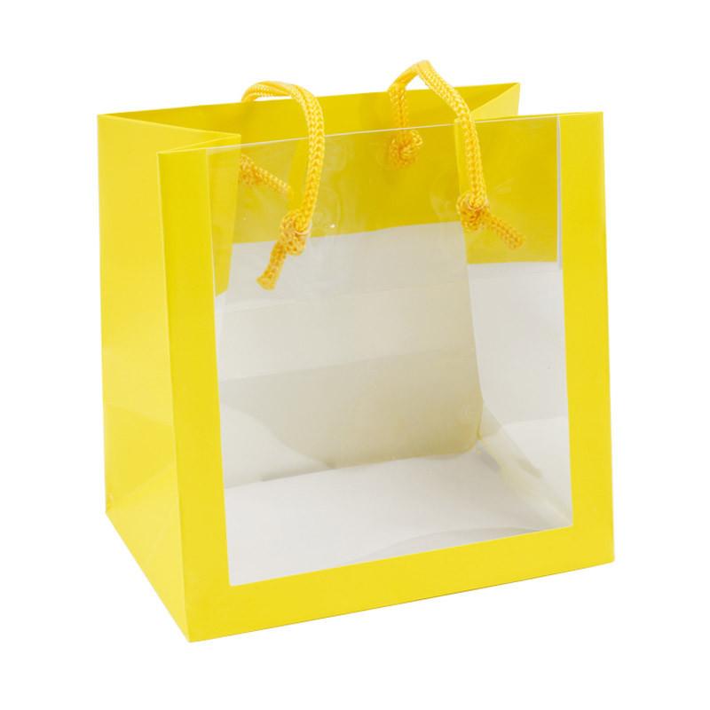 Sac pelliculé mat 'bellevue' jaune à fenêtre