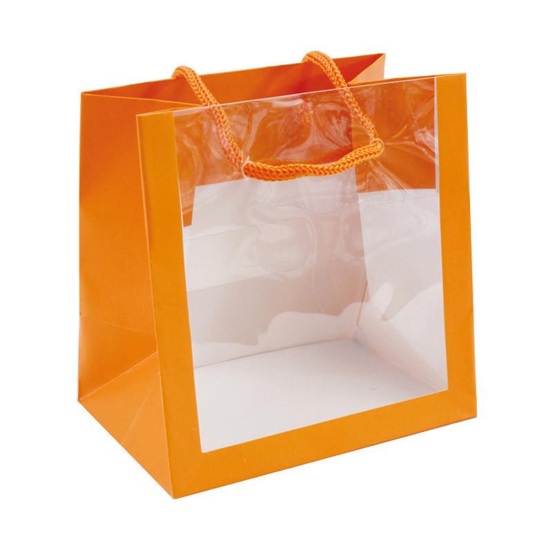 Sac pelliculé mat 'bellevue' orange à fenêtre