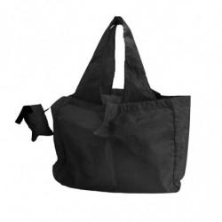 Sac réutilisable en nylon avec pochette de rangement noir