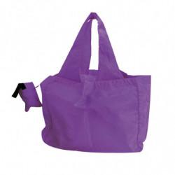 Sac réutilisable en nylon avec pochette de rangement violet