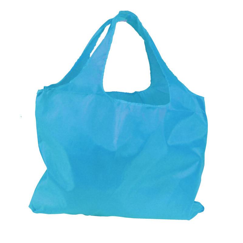 Sac réutilisable en nylon turquoise
