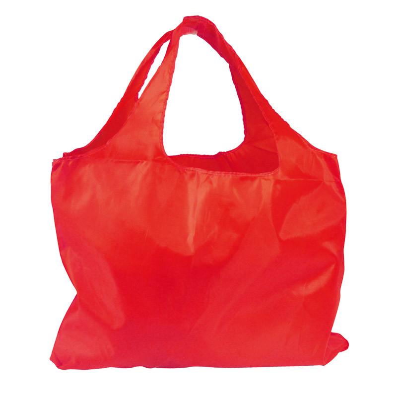 sac réutilisable en polyester rouge