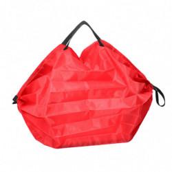 sac pliable en polyester rouge